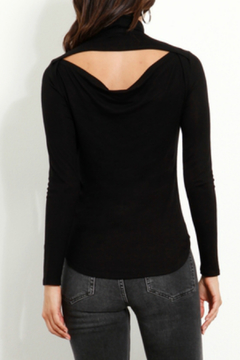 Three Dots Drape Back Tutleneck Top - Alternate List Image