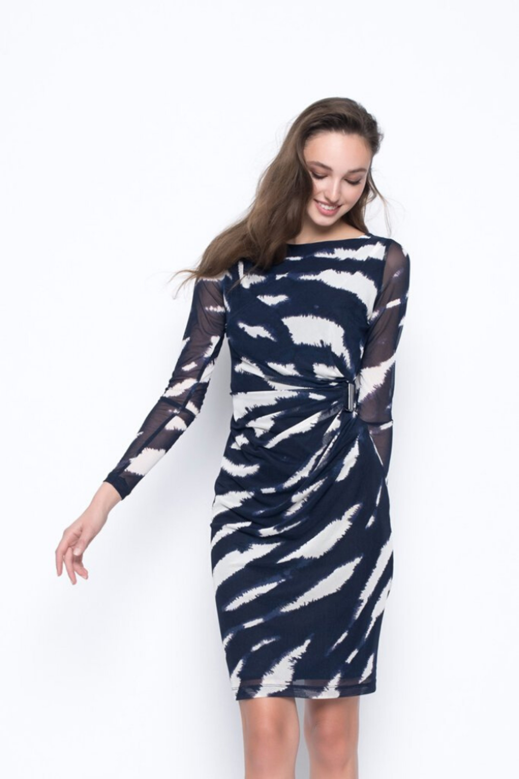 Picadilly Drape Detail Dress - Front Full Image