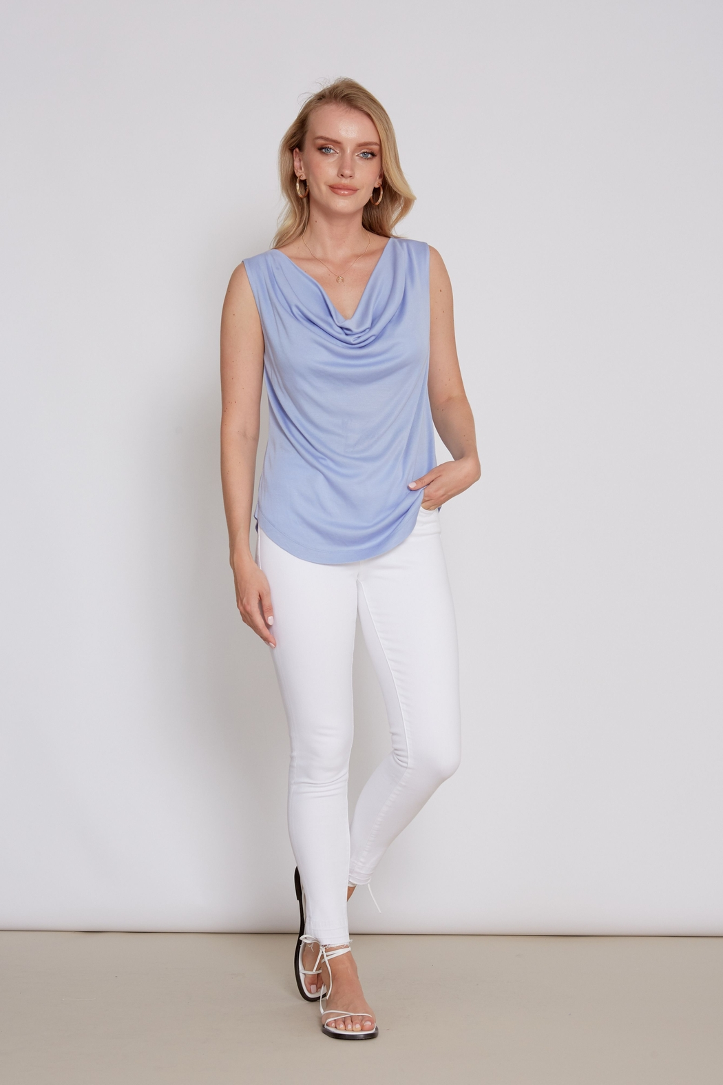 another love  Drape front Mandy Top - Back Cropped Image