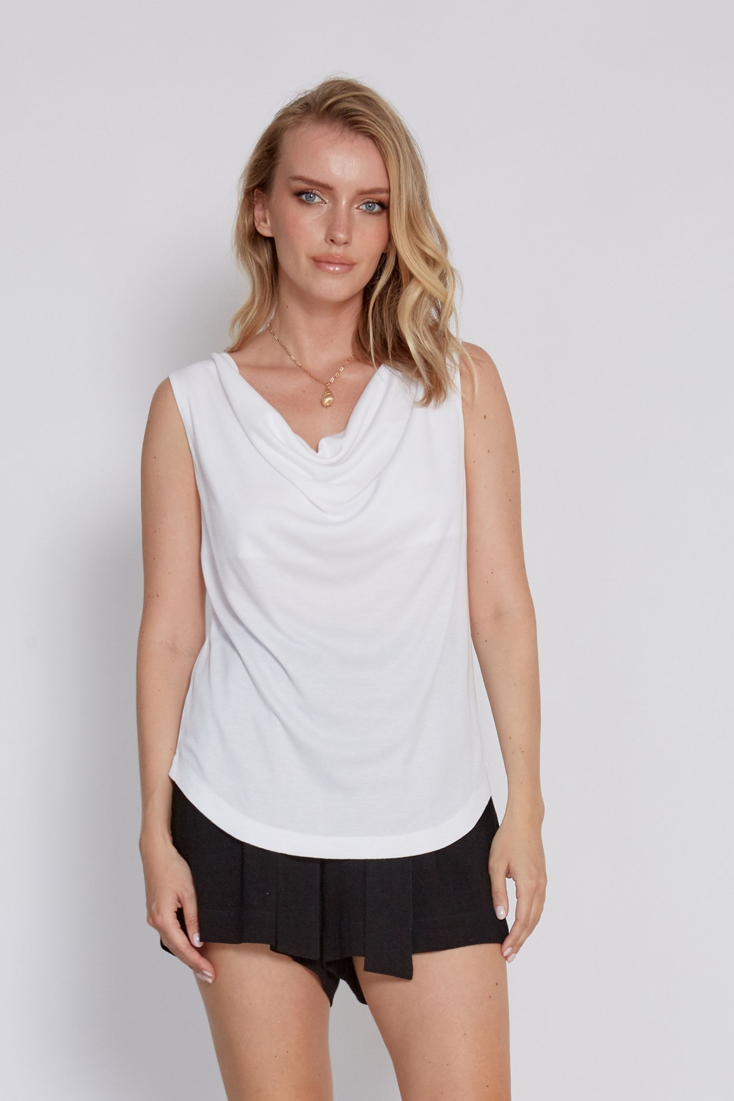 another love  Drape front Mandy Top - Front Cropped Image