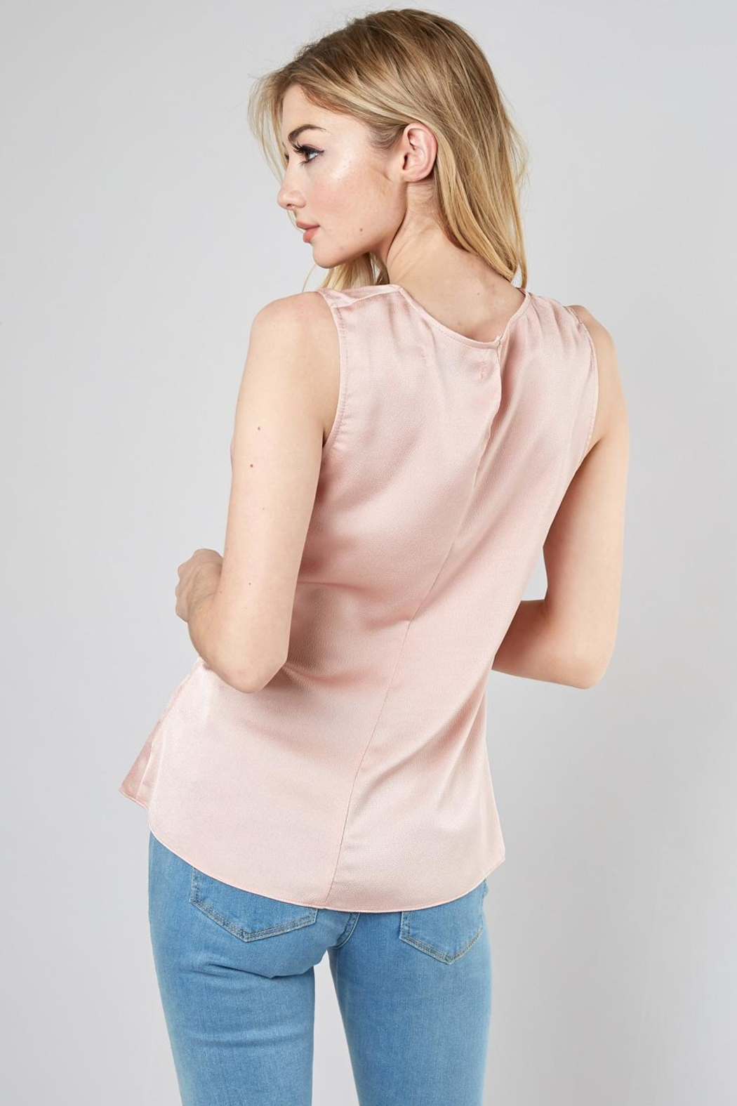 Do & Be Drape Knot Top - Side Cropped Image