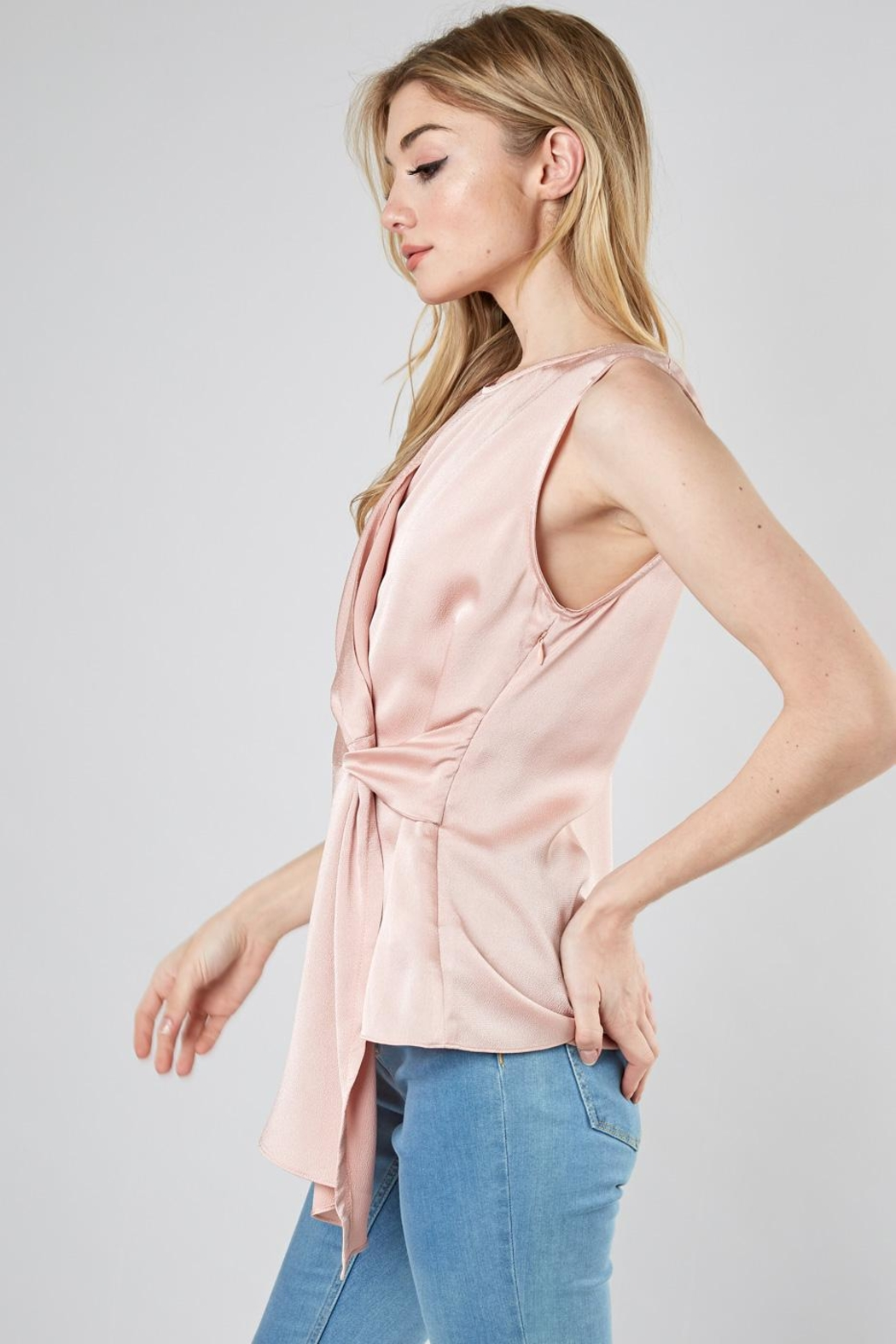 Do & Be Drape Knot Top - Front Full Image