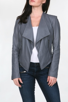 My Tribe Drape Leather Jacket - Product List Image