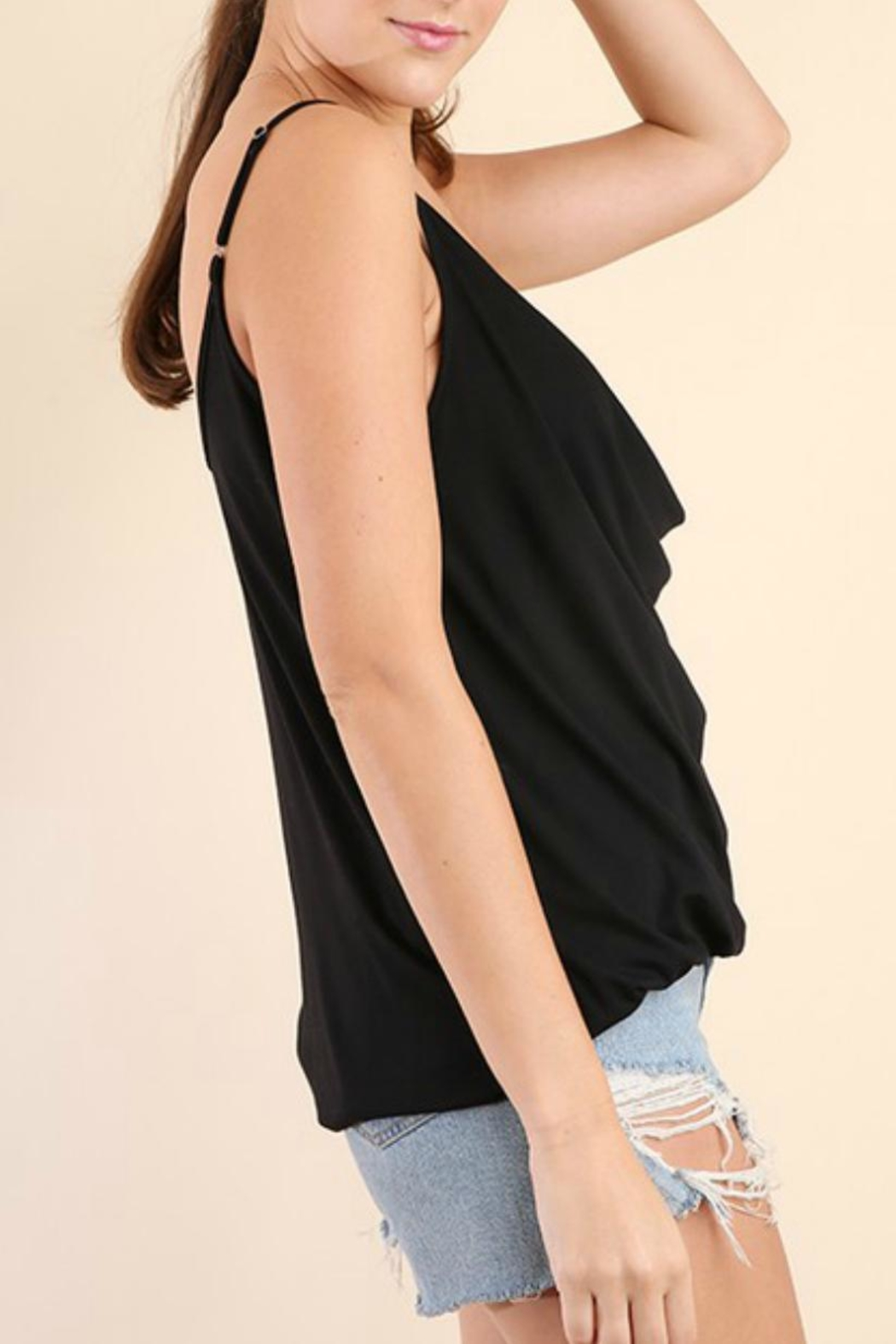 Umgee USA Drape-Neck Strappy Tank - Front Full Image