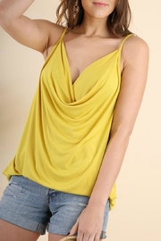 Umgee USA Drape-Neck Strappy Tank - Front cropped