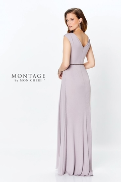 Montage Draped A-Line Gown, Navy - Alternate List Image