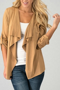 Trend:notes Draped-Collar Jacket - Product List Image