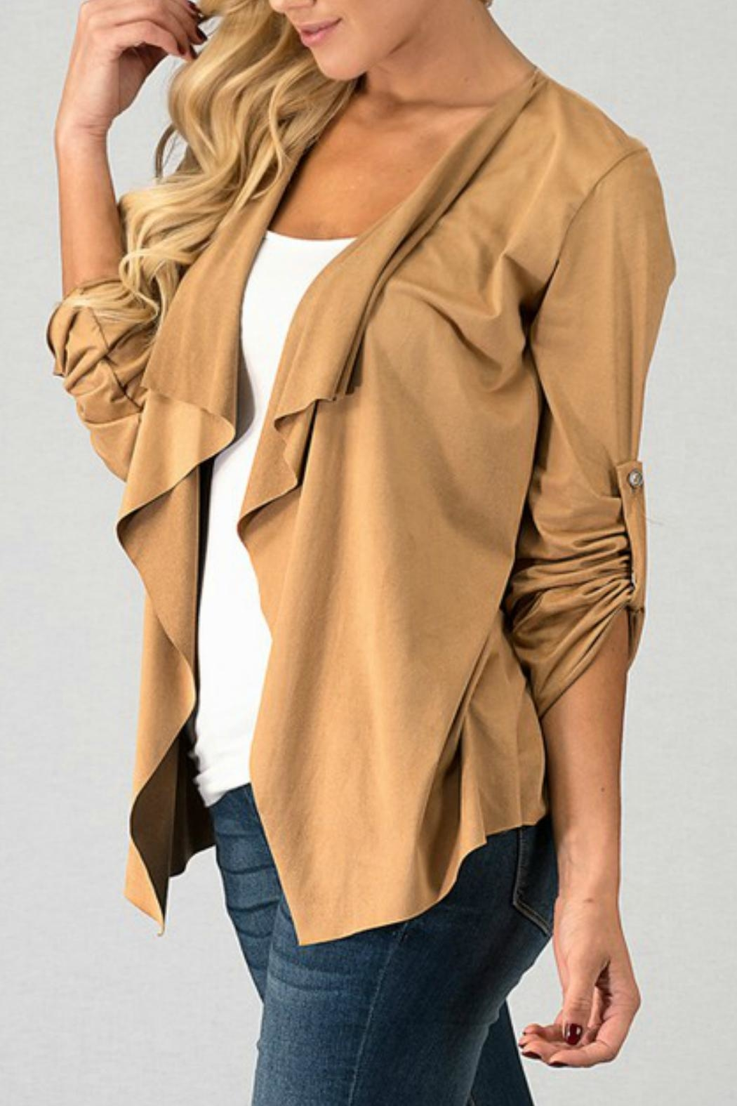 Trend:notes Draped-Collar Jacket - Front Full Image