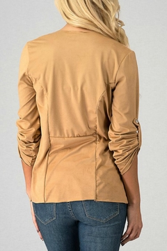 Trend:notes Draped-Collar Jacket - Alternate List Image