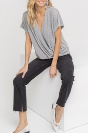 Lush Clothing  Draped Crossover Knit-Top - Product Mini Image