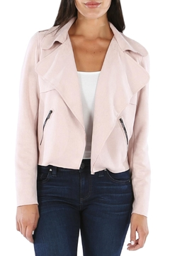 Kut from the Kloth Draped Faux-Suede Moto-Jacket - Product List Image