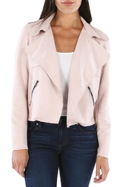 Kut from the Kloth Draped Faux-Suede Moto-Jacket - Product Mini Image