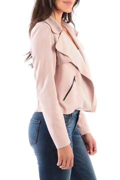 Kut from the Kloth Draped Faux-Suede Moto-Jacket - Alternate List Image