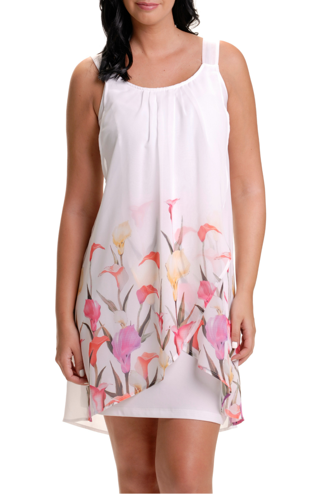 Bali Draped Floral Dress - Main Image