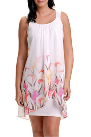 Bali Draped Floral Dress - Front cropped