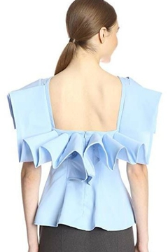 Gracia Draped Frill Blouse - Alternate List Image