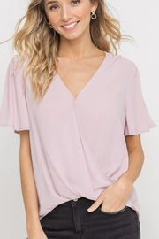 Lush  Draped Front Blouse - Product Mini Image