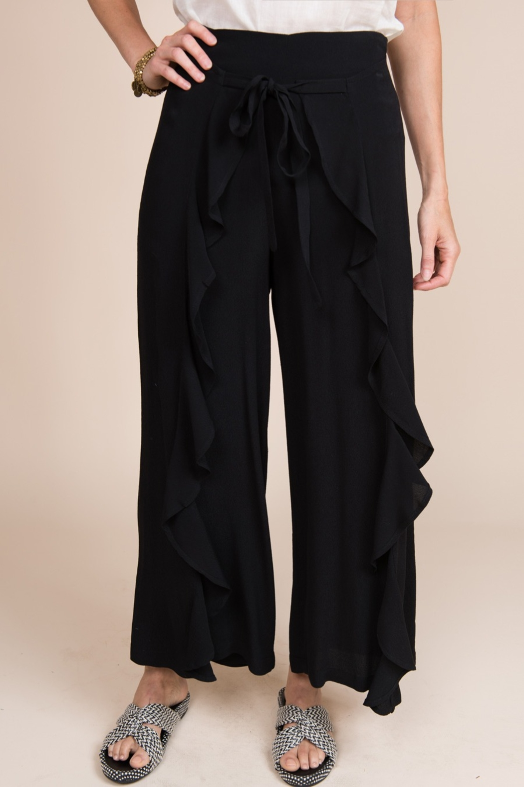 Ivy Jane / Uncle Frank  Draped Front Ruffle Pant - Front Full Image