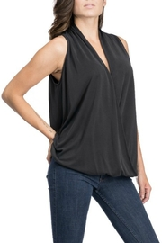 Blues & Greys  Draped Front Top - Product Mini Image