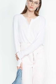 Michael Lauren Draped Henley L/s - Product Mini Image