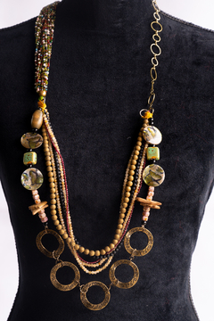 Handmade by CA artist Draped Jewel Necklace - Product List Image