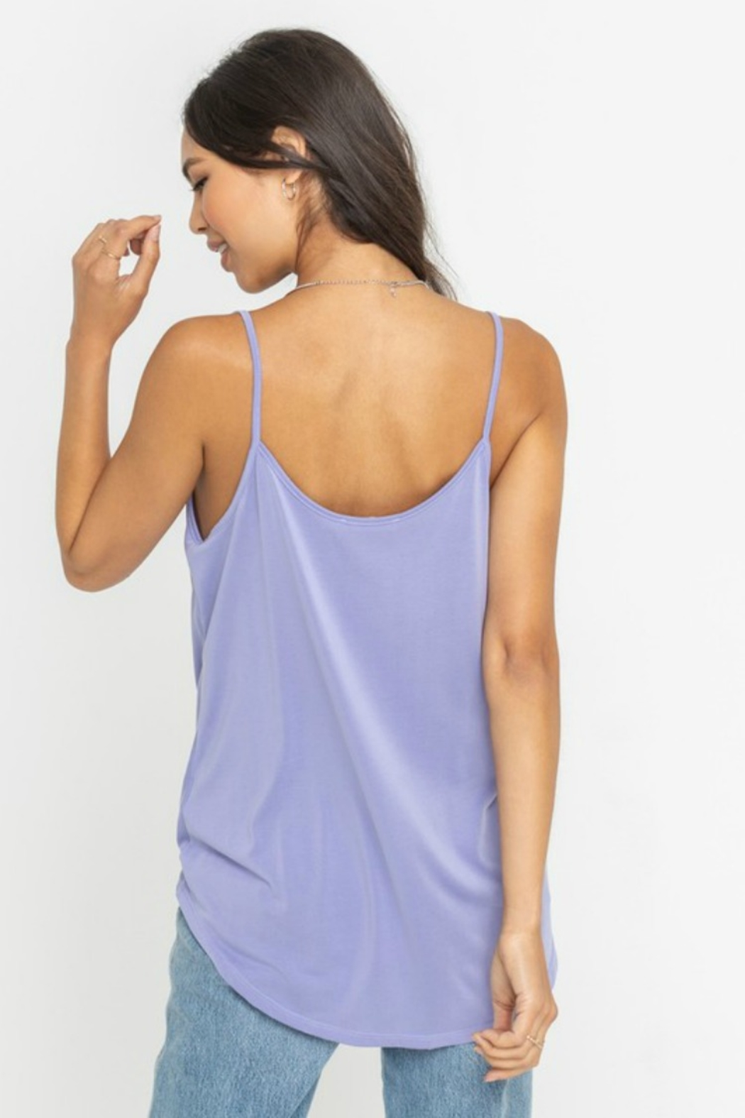 Lush  Draped Knot Front Tank - Side Cropped Image