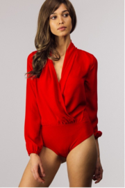 Faveur & Merci  Draped Surplus Bodysuit - Product Mini Image