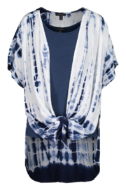 Tribal  Draped Tie Dye Cardigan - Product Mini Image