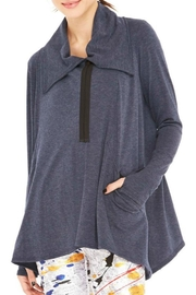 Terez Draped Wrap Jacket - Product Mini Image