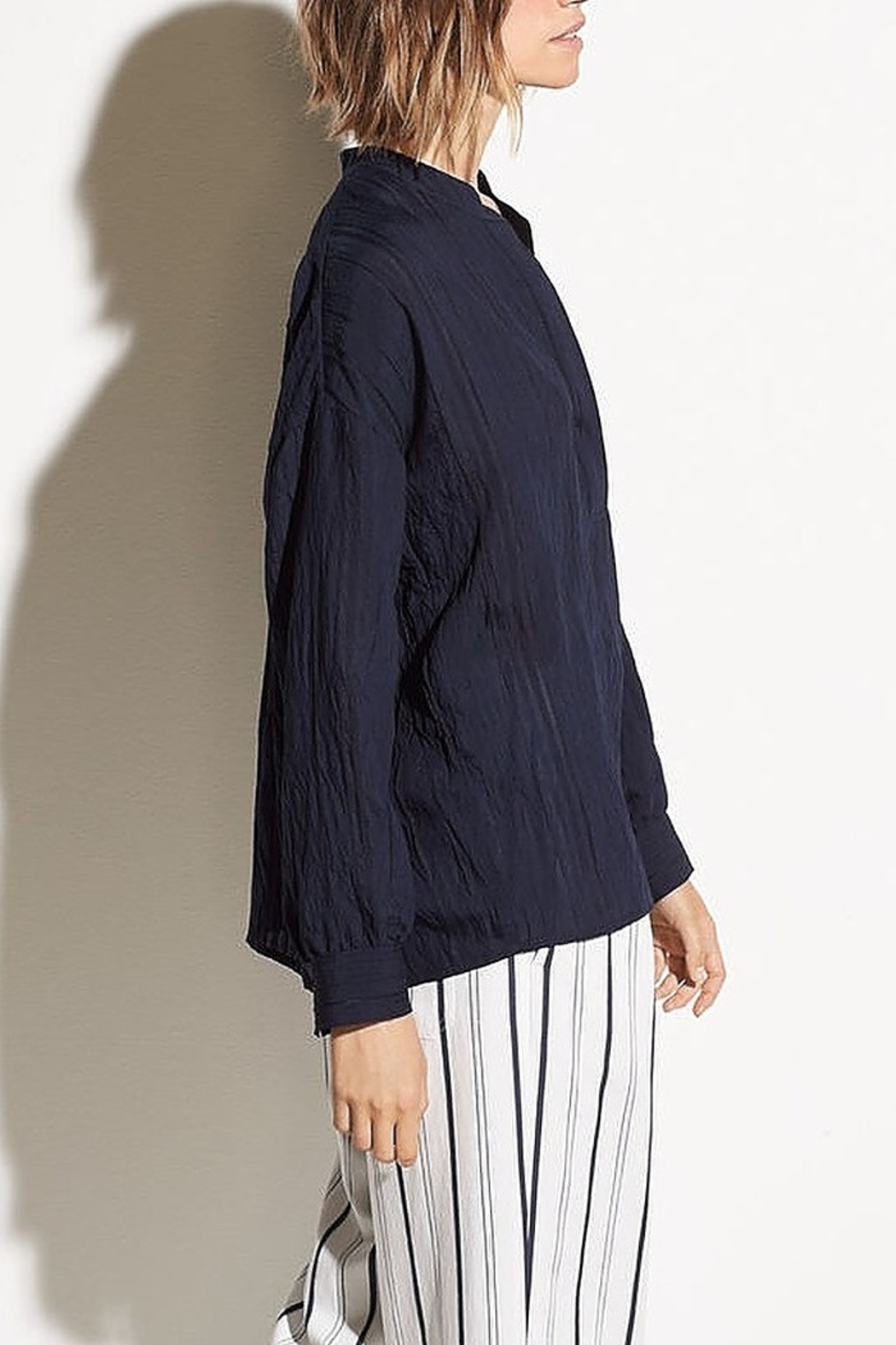 Vince Drapey Stripe Blouse - Side Cropped Image