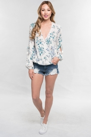 Lovestitch Drapped Stitched Blouse - Product Mini Image