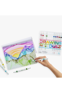 Ooly Drawing Duet Double Ended Markers: Set Of 24 - Alternate List Image