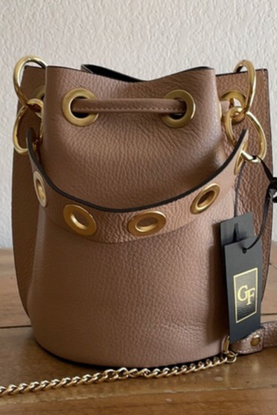 German Fuentes  Drawn to You Bucket Bag - Front Full Image
