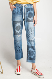 R+D  Drawstring Boho Pant - Product Mini Image