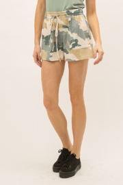 Mystree Drawstring Camo Shorts - Product Mini Image