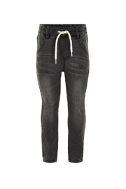 Minymo Drawstring Denim Jeans - Front cropped