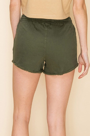 R+D  Drawstring Frayed Chino Short - Front full body