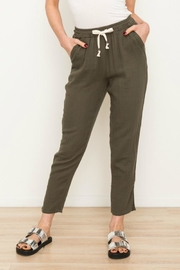 Mystree Drawstring Gauzy Pants - Product Mini Image