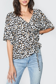 Sugar Lips Drawstring Leopard-Print Top - Product Mini Image