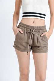 Love Tree Drawstring Shorts - Front cropped