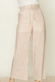 fashion on earth Drawstring Stripe Pants - Product Mini Image