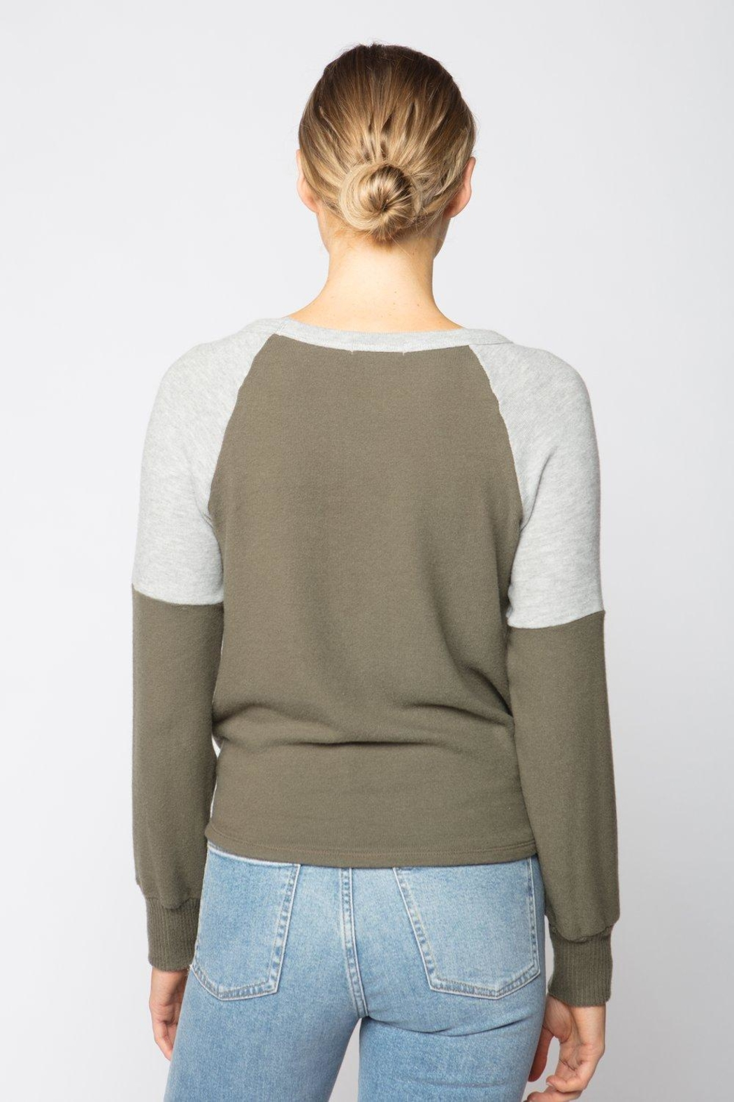 Red Haute Drawstring Sweater - Front Full Image