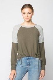 Red Haute Drawstring Sweater - Front cropped