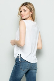 Wasabi + Mint Drawstring t-Shirt - Side cropped
