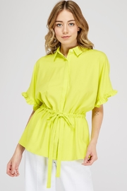 Jealous Tomato Drawstring Waist Blouse - Product Mini Image