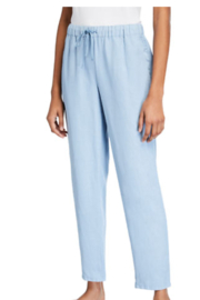 Eileen Fisher Drawstring Waist Tapered Ankle Pants Haze - Product Mini Image
