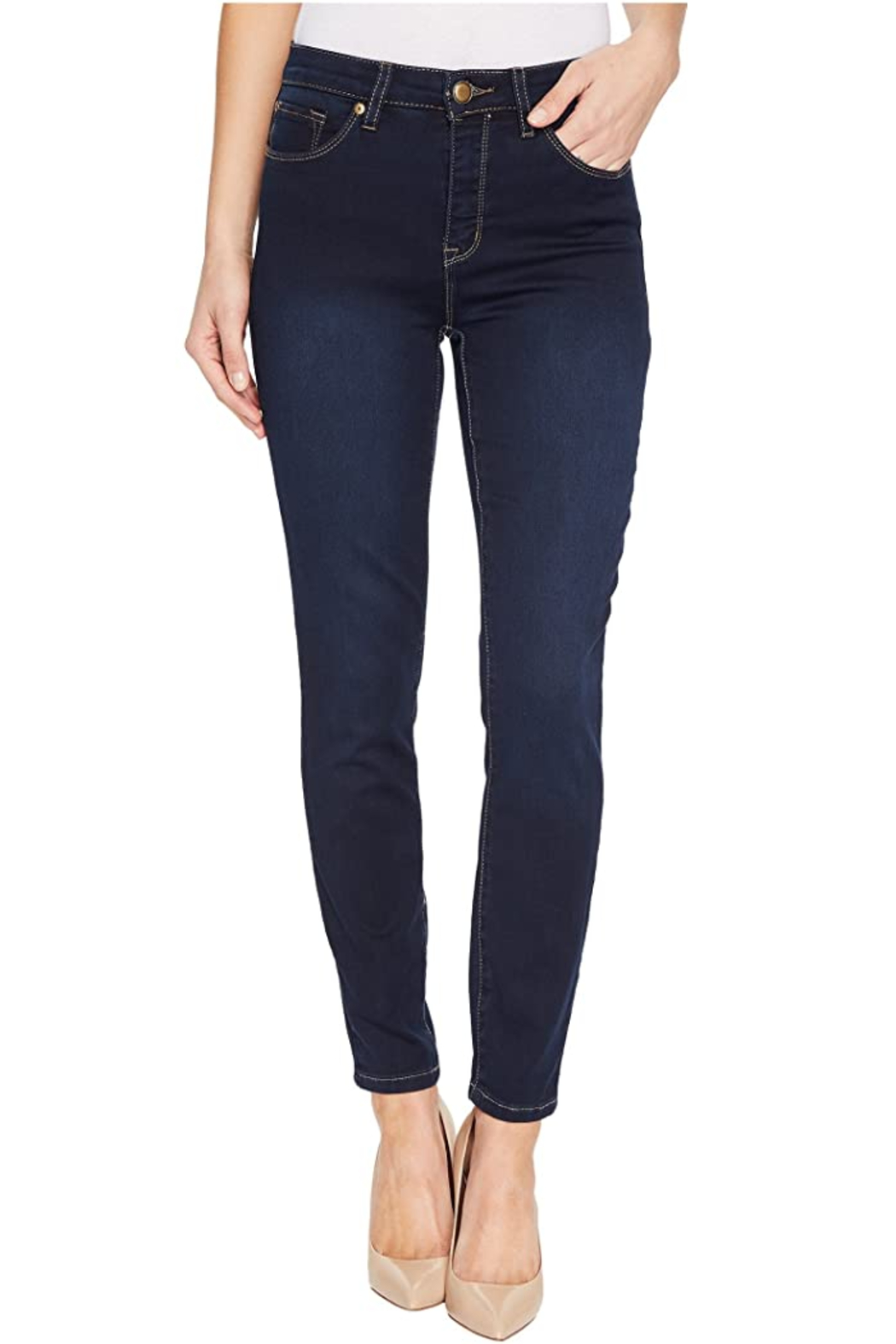 Tribal Jeans Dream Ankle Jean - Front Cropped Image