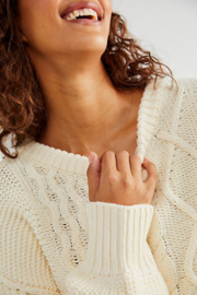 Free People  Dream Cable Crewneck Sweater - Other