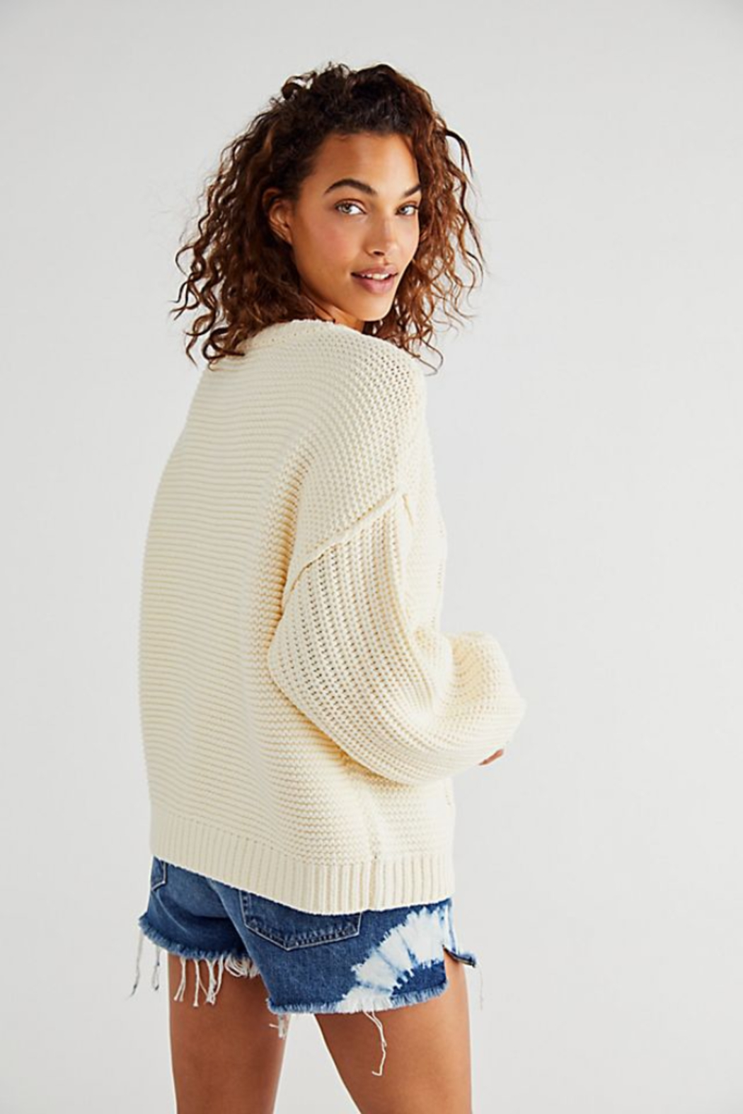 Free People  Dream Cable Crewneck Sweater - Side Cropped Image