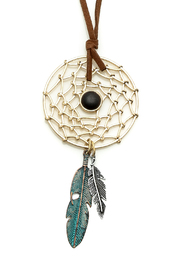 Dream Catcher Necklace - Front full body